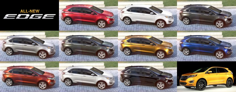 2015 Ford Edge Visualizer  All 10 Colors From Every Angle