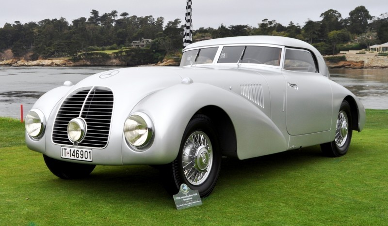 Car-Revs-Daily.com 1938 Mercedes-Benz 540K Streamliner is One-Off Coupe With Wrap-Around Glass and Aero-Smooth Design 10