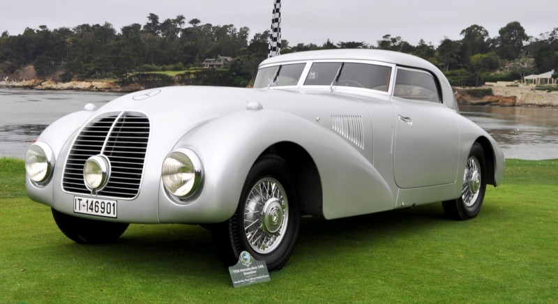 Car-Revs-Daily.com 1938 Mercedes-Benz 540K Streamliner is One-Off Coupe With Wrap-Around Glass and Aero-Smooth Design 11