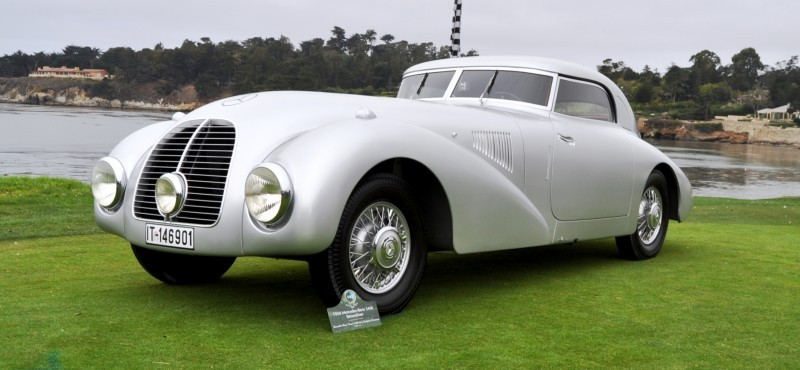 Car-Revs-Daily.com 1938 Mercedes-Benz 540K Streamliner is One-Off Coupe With Wrap-Around Glass and Aero-Smooth Design 13