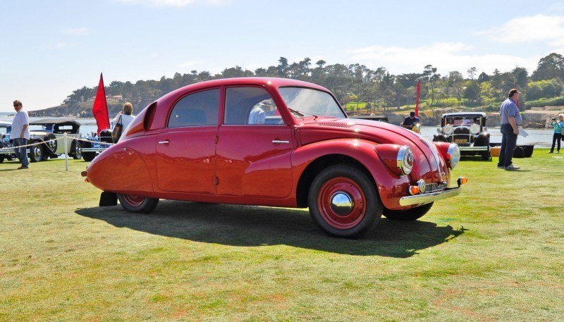 Car-Revs-Daily.com 1938 Tatra T97 Aerodynamic Sedan at Pebble Beach 2014 Concours 10