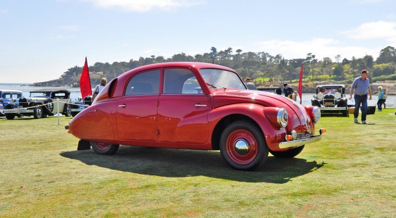 Car-Revs-Daily.com 1938 Tatra T97 Aerodynamic Sedan at Pebble Beach 2014 Concours 11