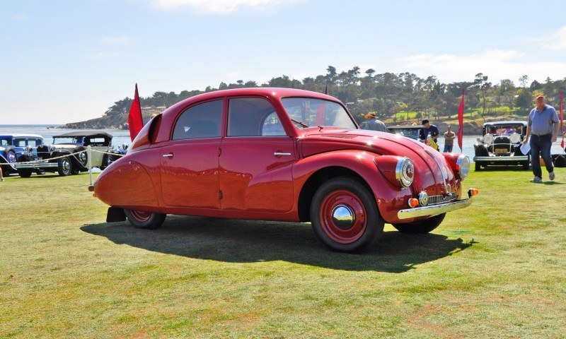 Car-Revs-Daily.com 1938 Tatra T97 Aerodynamic Sedan at Pebble Beach 2014 Concours 12