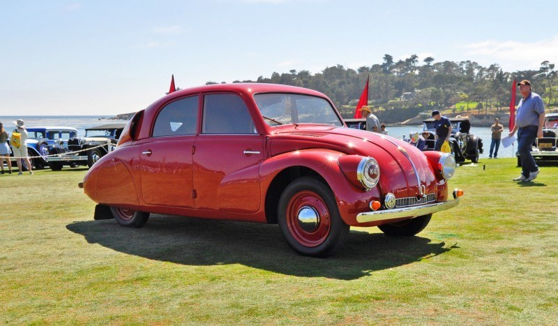 Car-Revs-Daily.com 1938 Tatra T97 Aerodynamic Sedan at Pebble Beach 2014 Concours 13