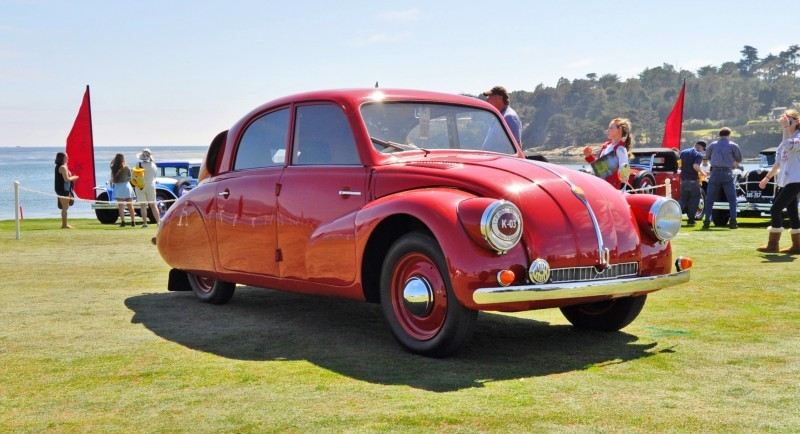Car-Revs-Daily.com 1938 Tatra T97 Aerodynamic Sedan at Pebble Beach 2014 Concours 15