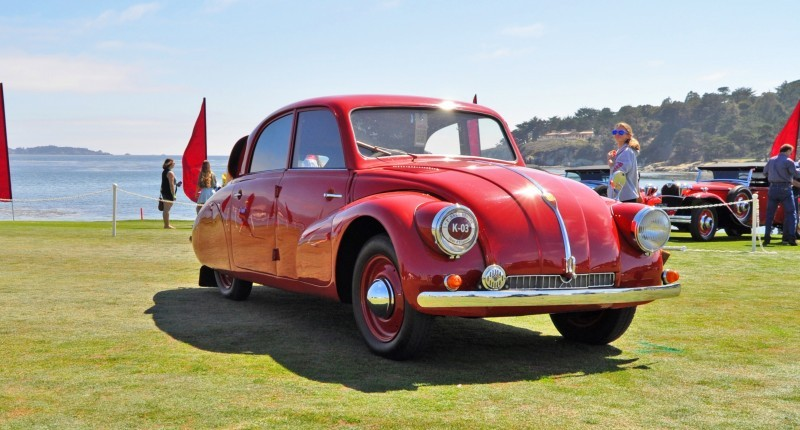 Car-Revs-Daily.com 1938 Tatra T97 Aerodynamic Sedan at Pebble Beach 2014 Concours 16