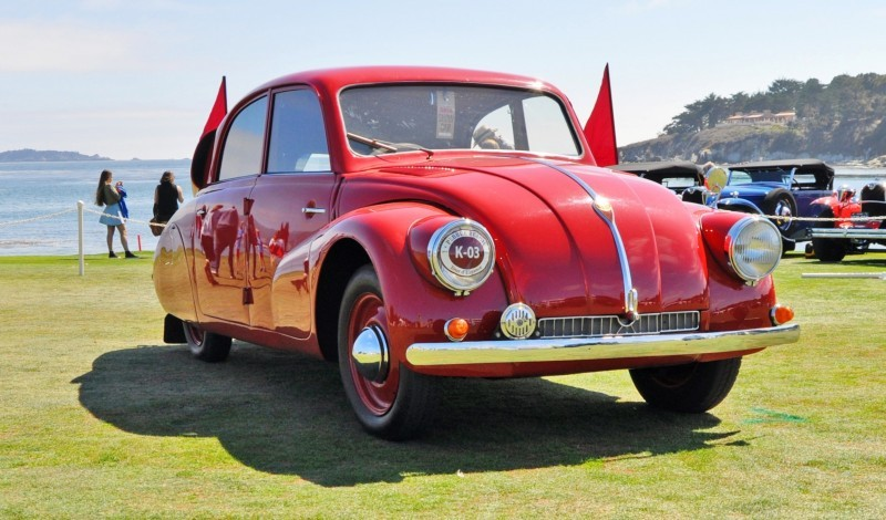 Car-Revs-Daily.com 1938 Tatra T97 Aerodynamic Sedan at Pebble Beach 2014 Concours 17