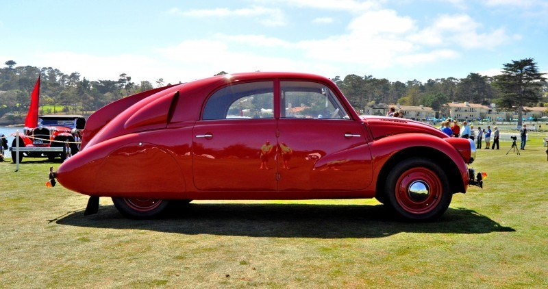 Car-Revs-Daily.com 1938 Tatra T97 Aerodynamic Sedan at Pebble Beach 2014 Concours 2