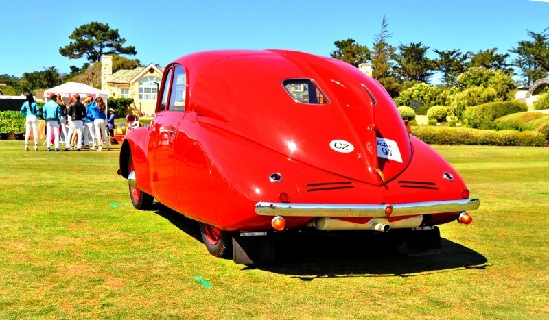 Car-Revs-Daily.com 1938 Tatra T97 Aerodynamic Sedan at Pebble Beach 2014 Concours 26