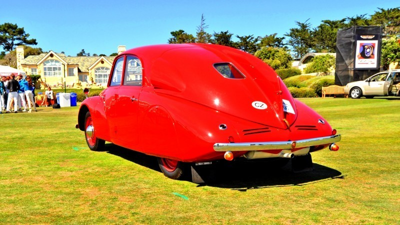 Car-Revs-Daily.com 1938 Tatra T97 Aerodynamic Sedan at Pebble Beach 2014 Concours 27