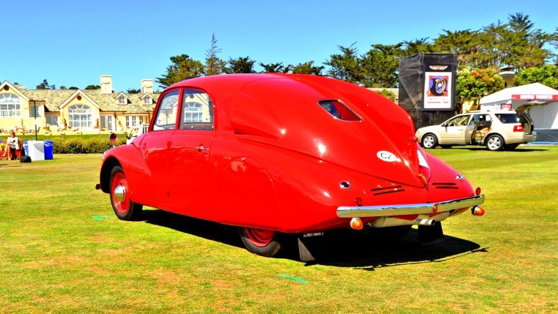 Car-Revs-Daily.com 1938 Tatra T97 Aerodynamic Sedan at Pebble Beach 2014 Concours 28