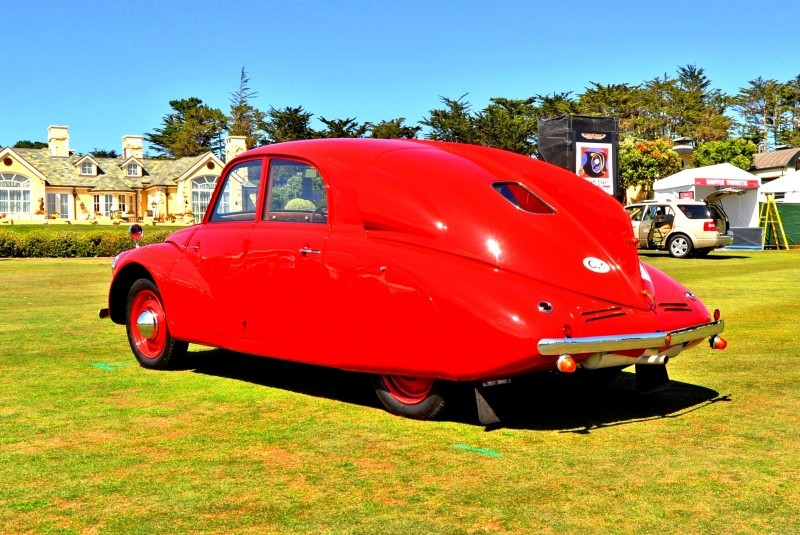 Car-Revs-Daily.com 1938 Tatra T97 Aerodynamic Sedan at Pebble Beach 2014 Concours 29
