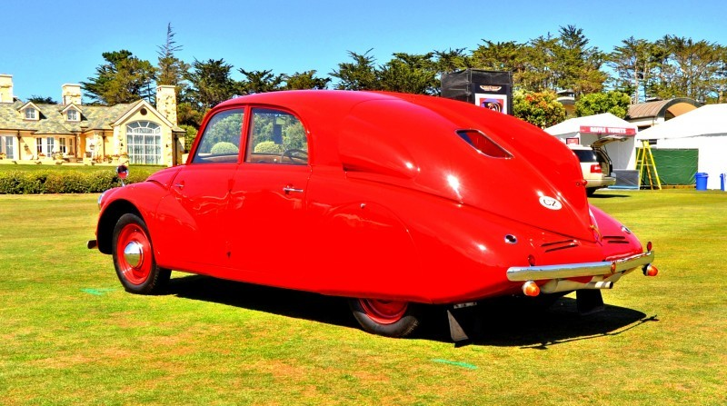 Car-Revs-Daily.com 1938 Tatra T97 Aerodynamic Sedan at Pebble Beach 2014 Concours 30