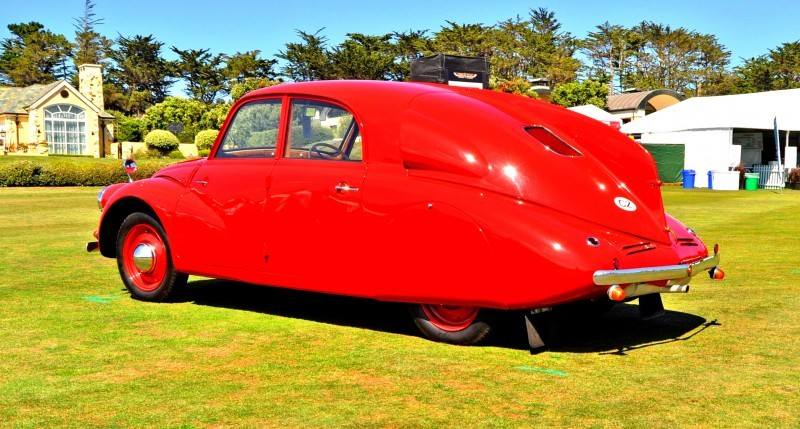 Car-Revs-Daily.com 1938 Tatra T97 Aerodynamic Sedan at Pebble Beach 2014 Concours 31