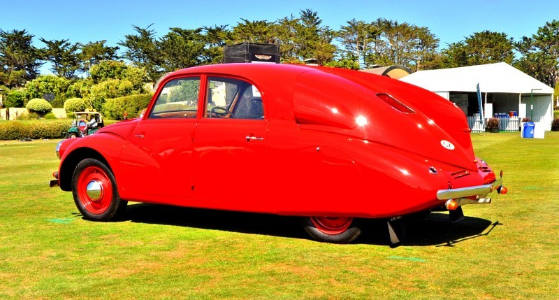 Car-Revs-Daily.com 1938 Tatra T97 Aerodynamic Sedan at Pebble Beach 2014 Concours 32