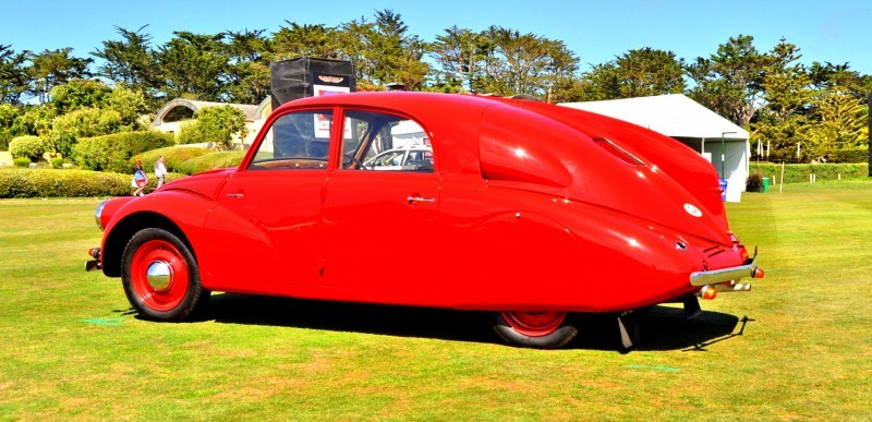 Car-Revs-Daily.com 1938 Tatra T97 Aerodynamic Sedan at Pebble Beach 2014 Concours 33