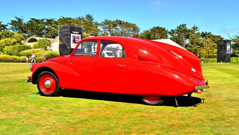 Car-Revs-Daily.com 1938 Tatra T97 Aerodynamic Sedan at Pebble Beach 2014 Concours 34