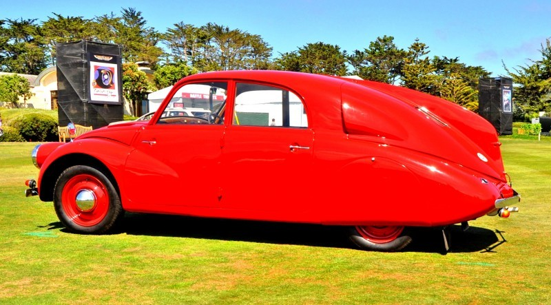 Car-Revs-Daily.com 1938 Tatra T97 Aerodynamic Sedan at Pebble Beach 2014 Concours 35