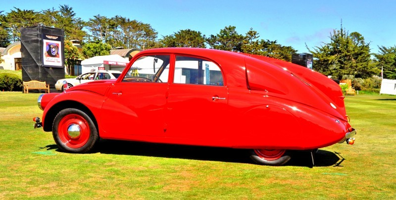 Car-Revs-Daily.com 1938 Tatra T97 Aerodynamic Sedan at Pebble Beach 2014 Concours 36