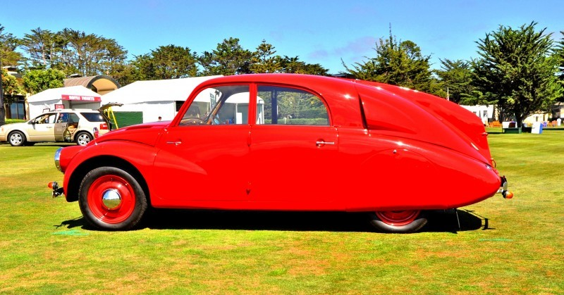 Car-Revs-Daily.com 1938 Tatra T97 Aerodynamic Sedan at Pebble Beach 2014 Concours 37