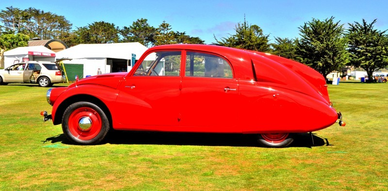 Car-Revs-Daily.com 1938 Tatra T97 Aerodynamic Sedan at Pebble Beach 2014 Concours 38