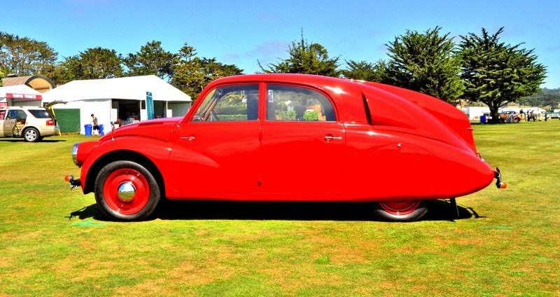 Car-Revs-Daily.com 1938 Tatra T97 Aerodynamic Sedan at Pebble Beach 2014 Concours 39