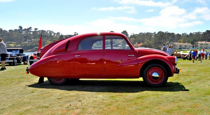 Car-Revs-Daily.com 1938 Tatra T97 Aerodynamic Sedan at Pebble Beach 2014 Concours 4