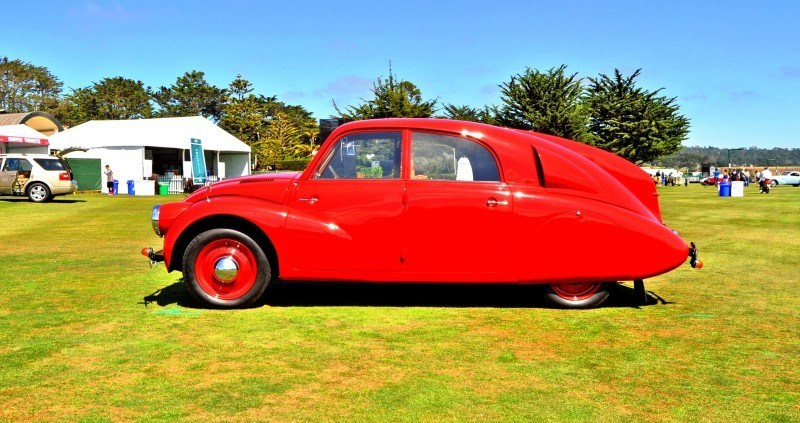 Car-Revs-Daily.com 1938 Tatra T97 Aerodynamic Sedan at Pebble Beach 2014 Concours 40