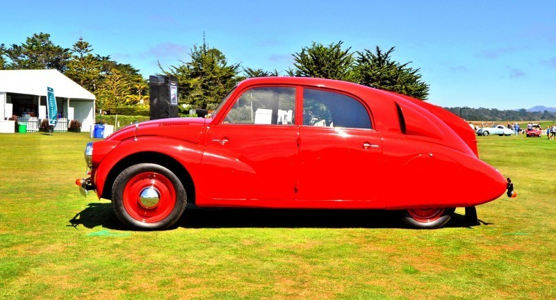 Car-Revs-Daily.com 1938 Tatra T97 Aerodynamic Sedan at Pebble Beach 2014 Concours 41