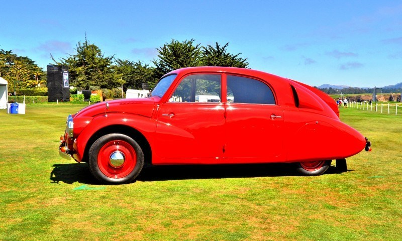 Car-Revs-Daily.com 1938 Tatra T97 Aerodynamic Sedan at Pebble Beach 2014 Concours 42
