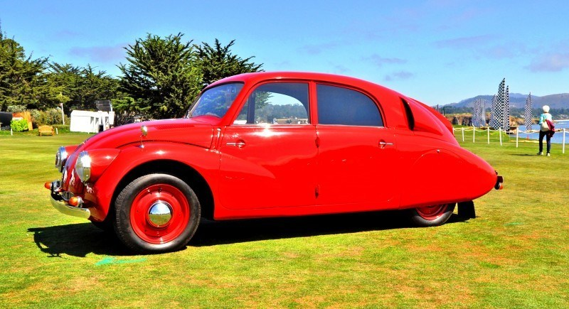 Car-Revs-Daily.com 1938 Tatra T97 Aerodynamic Sedan at Pebble Beach 2014 Concours 43