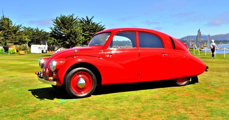 Car-Revs-Daily.com 1938 Tatra T97 Aerodynamic Sedan at Pebble Beach 2014 Concours 44