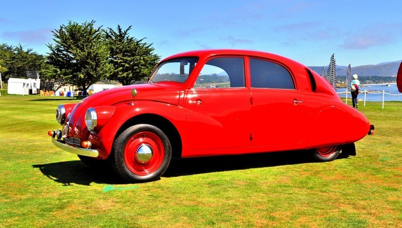 Car-Revs-Daily.com 1938 Tatra T97 Aerodynamic Sedan at Pebble Beach 2014 Concours 45
