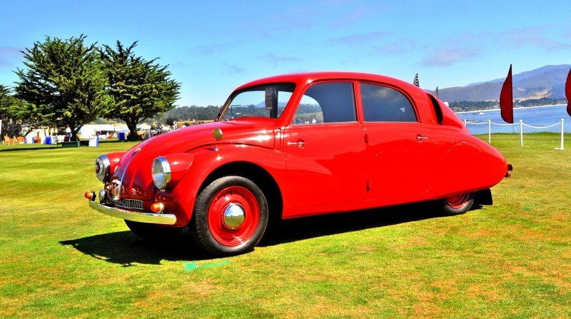 Car-Revs-Daily.com 1938 Tatra T97 Aerodynamic Sedan at Pebble Beach 2014 Concours 46