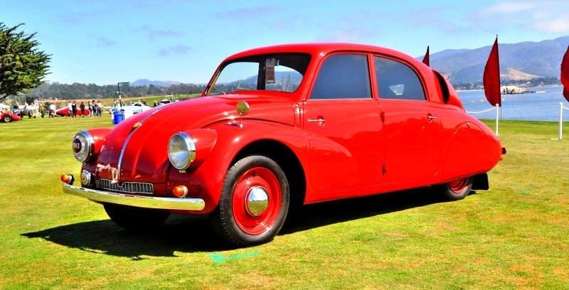 Car-Revs-Daily.com 1938 Tatra T97 Aerodynamic Sedan at Pebble Beach 2014 Concours 48