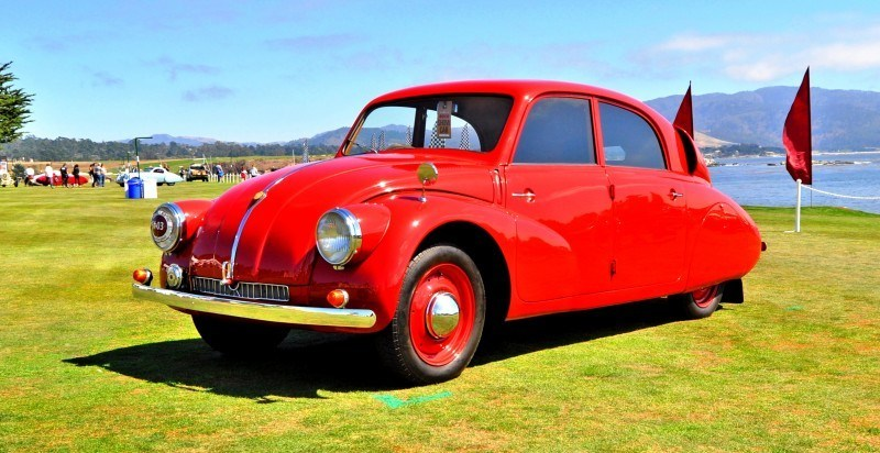 Car-Revs-Daily.com 1938 Tatra T97 Aerodynamic Sedan at Pebble Beach 2014 Concours 49