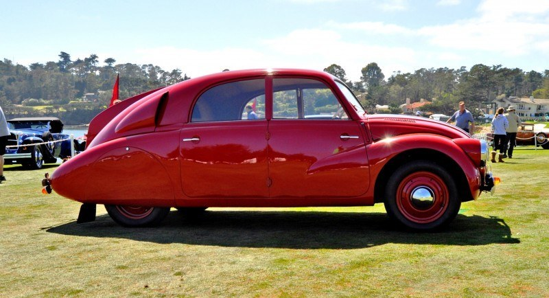 Car-Revs-Daily.com 1938 Tatra T97 Aerodynamic Sedan at Pebble Beach 2014 Concours 5