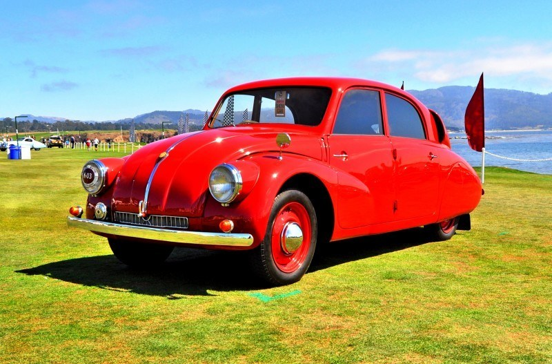 Car-Revs-Daily.com 1938 Tatra T97 Aerodynamic Sedan at Pebble Beach 2014 Concours 50