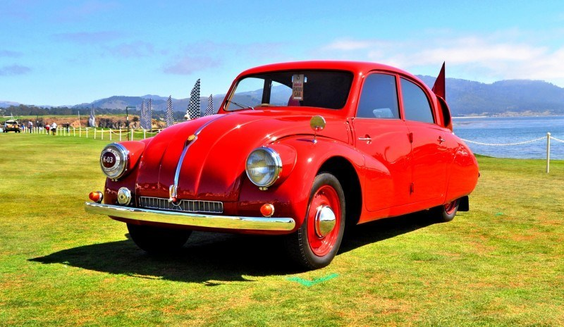 Car-Revs-Daily.com 1938 Tatra T97 Aerodynamic Sedan at Pebble Beach 2014 Concours 51