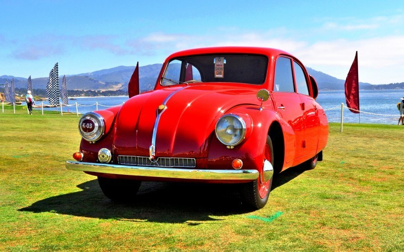 Car-Revs-Daily.com 1938 Tatra T97 Aerodynamic Sedan at Pebble Beach 2014 Concours 53