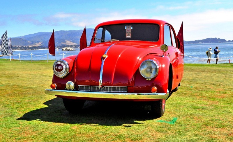Car-Revs-Daily.com 1938 Tatra T97 Aerodynamic Sedan at Pebble Beach 2014 Concours 54
