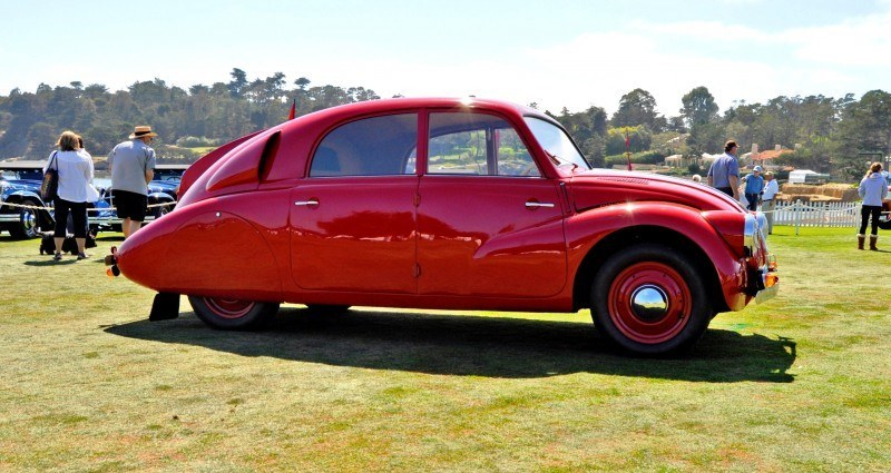 Car-Revs-Daily.com 1938 Tatra T97 Aerodynamic Sedan at Pebble Beach 2014 Concours 7
