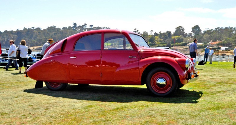 Car-Revs-Daily.com 1938 Tatra T97 Aerodynamic Sedan at Pebble Beach 2014 Concours 8