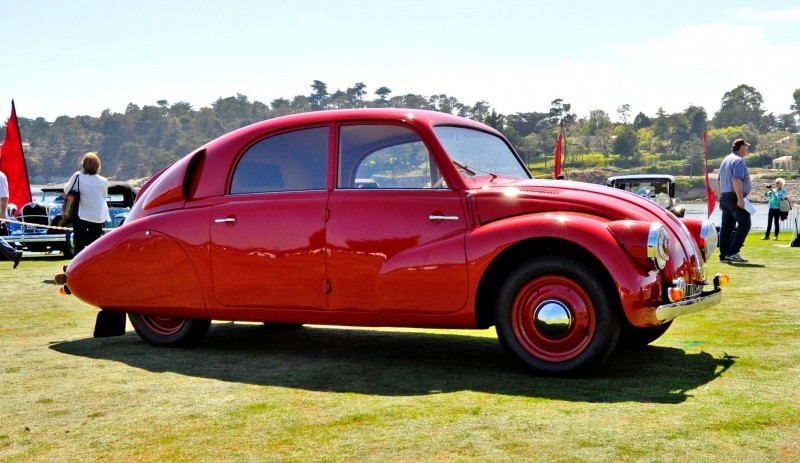 Car-Revs-Daily.com 1938 Tatra T97 Aerodynamic Sedan at Pebble Beach 2014 Concours 9