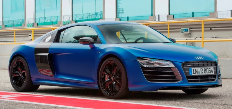Car-Revs-Daily.com 2014 AUDI R8 V10 Plus in Sepang Matte Metallic Blue 1