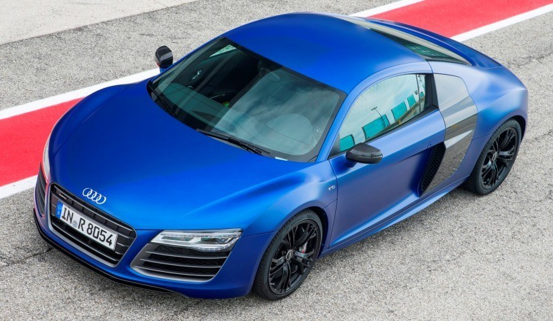 Car-Revs-Daily.com 2014 AUDI R8 V10 Plus in Sepang Matte Metallic Blue 22