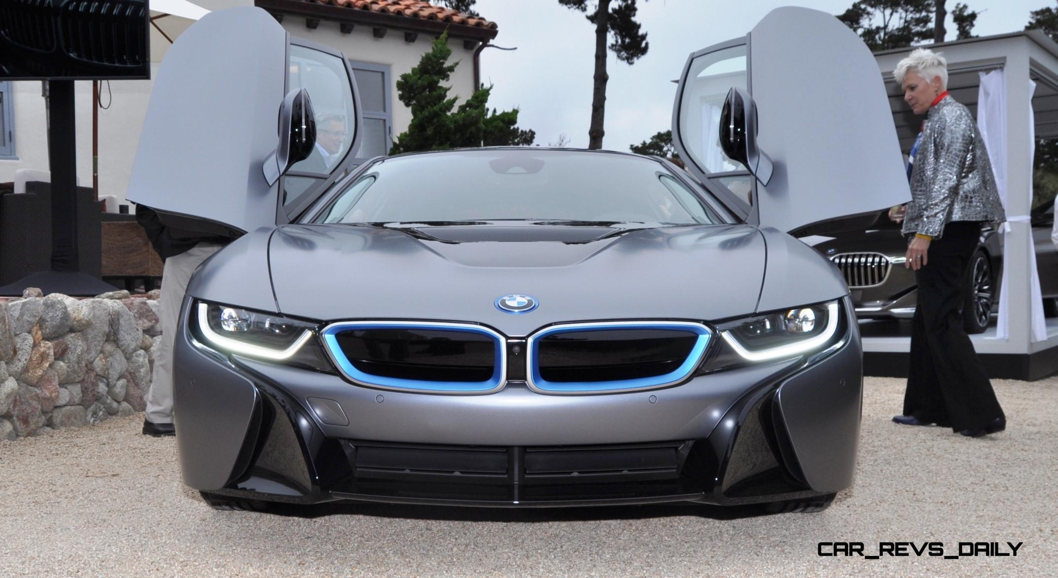 USA Debut and $825,000 Auction Grand Slam - 2014 BMW i8 Pebble Beach ...