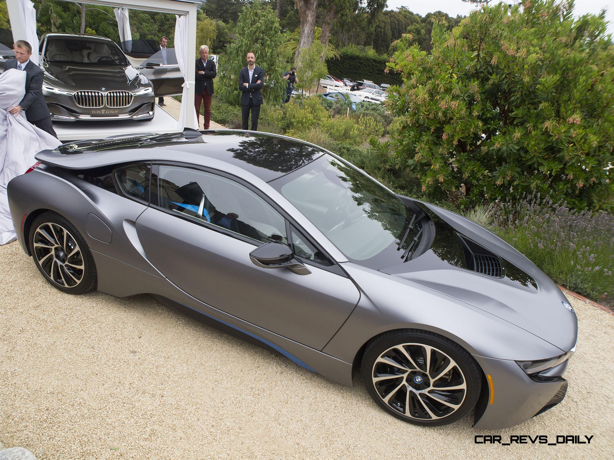 Usa Debut And 825 000 Auction Grand Slam 2014 Bmw I8 Pebble Beach