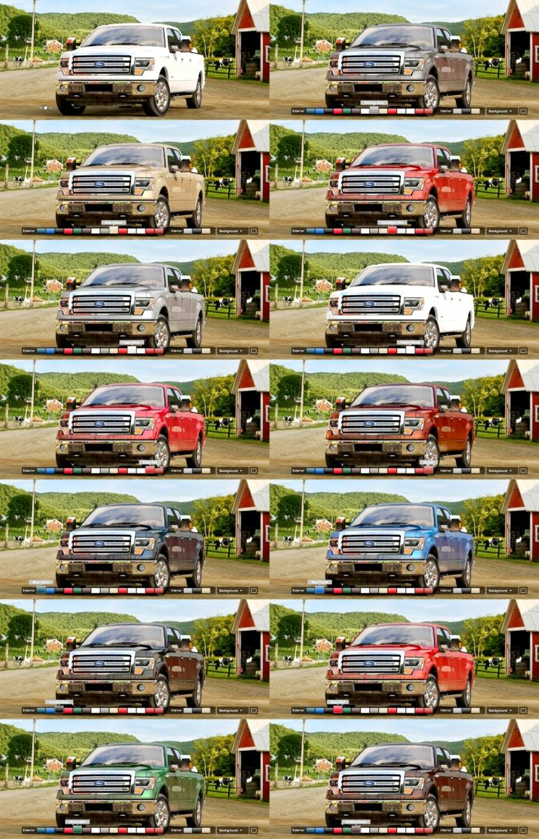 Car-Revs-Daily.com 2014 FORD F-150 COLORS 2-tile