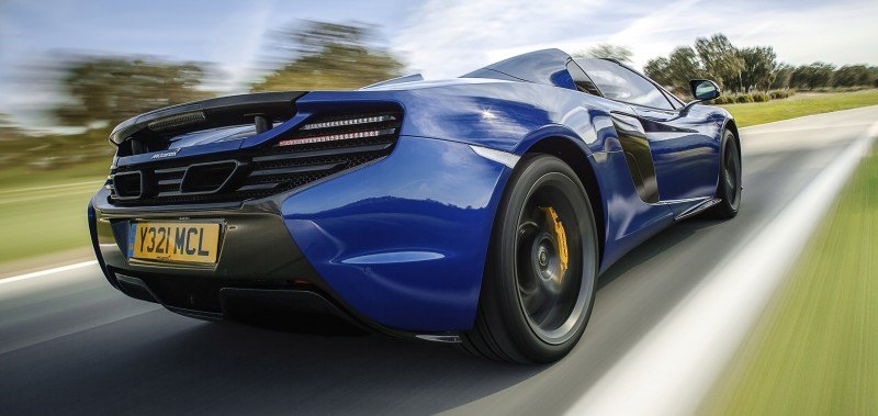 Car-Revs-Daily.com 2014 McLaren 650S Coupe and Spider Launch Ascari Circuit 125